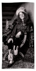 Janis Joplin Casual Beach Sheet by Daniel Hagerman