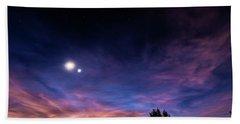 January 31, 2016 Sunset Beach Towel by Karen Slagle