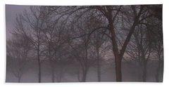 January Fog 4 Beach Sheet