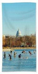 January Ice Beach Towel