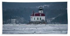 January Morning At Esopus Light Beach Towel