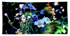 Japanese Anemone In The Afternoon Light Beach Towel