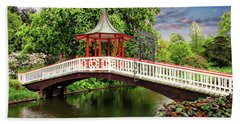 Japanese Bridge Garden Beach Towel