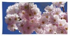 Japanese Flowering Cherry Prunus Serrulata Beach Towel