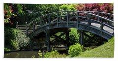 Japanese Garden Bridge Beach Sheet
