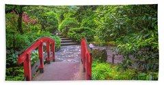 Japanese Garden Beach Towel
