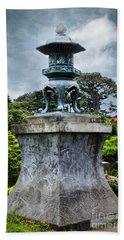 Japanese Garden Beach Towel by Judy Wolinsky