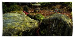 Japanese Garden Lantern Beach Sheet