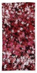 Japanese Maple Leaves Beach Towel