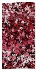Japanese Maple Leaves Beach Sheet