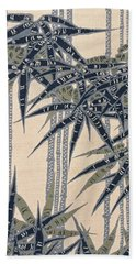 Japanese Style Bamboo Forest Modern Interior Art Painting. Beach Towel