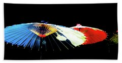 Japanese Umbrellas Assorted Colors Beach Towel