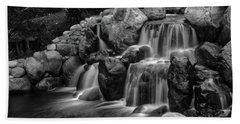 Japanese Waterfalls Beach Towel