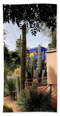 Beach Sheet featuring the photograph Jardin Majorelle 4 by Andrew Fare
