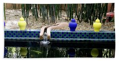 Beach Towel featuring the photograph Jardin Majorelle by Andrew Fare