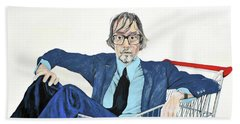 Jarvis Cocker 'off Yer Trolley' Beach Towel