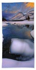 Beach Towel featuring the photograph Jasper In The Winter by Dan Jurak