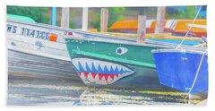 Jaws Beach Towel by Pamela Williams