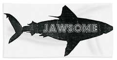 Jawsome Beach Towel by Michelle Calkins