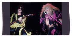 Jay Jay French And Dee Snider Beach Towel