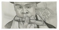 Jay-z Reasonable Doubt 20th Beach Towel by Gregory Taylor