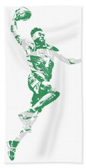 Jaylen Brown Boston Celtics Pixel Art 10 Beach Towel