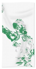 Jaylen Brown Boston Celtics Pixel Art 11 Beach Towel