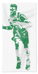 Jaylen Brown Boston Celtics Pixel Art 30 Beach Towel
