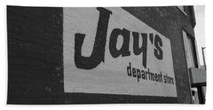 Jay's Department Store In Bw Beach Towel