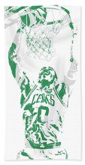 Jayson Tatum Boston Celtics Pixel Art 10 Beach Towel