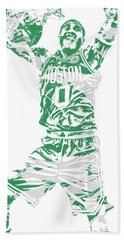 Jayson Tatum Boston Celtics Pixel Art 11 Beach Towel