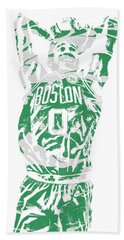 Jayson Tatum Boston Celtics Pixel Art 12 Beach Towel