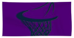 Jazz Basketball Hoop Beach Towel