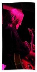 Beach Towel featuring the photograph Jazz Guitarist by Lori Seaman