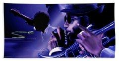 Jazz In Da Dusk Beach Sheet