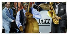 Jazz Jazz Jazz Beach Towel