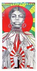 Jazz Saint Beach Sheet by Ethna Gillespie