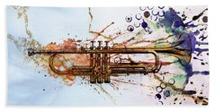 Jazz Trumpet Beach Sheet by David Ridley