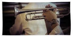 Jazz Trumpet New Orleans Beach Sheet by Garry Gay
