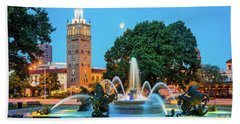 J.c. Nichols Memorial Fountain Beach Towel