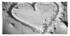 Winter Heart Beach Sheet