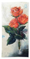 Jeannie's Roses Beach Towel