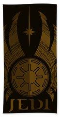 Jedi Symbol - Star Wars Art, Brown Beach Towel