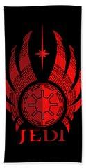 Jedi Symbol - Star Wars Art, Red Beach Towel