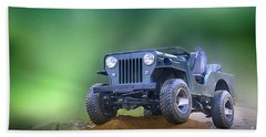 Beach Towel featuring the photograph Jeep by Charuhas Images
