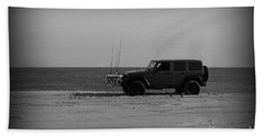 Jeep Life In Black And White Beach Towel