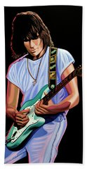 Jeff Beck Painting Beach Towel