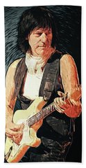 Jeff Beck Beach Towel