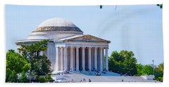 Jefferson Memorial Beach Towel by Anthony Baatz