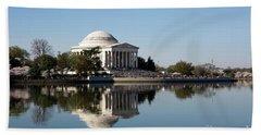 Jefferson Memorial Cherry Blossom Festival Beach Towel